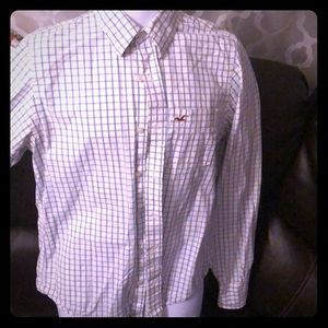 Hollister Mens Medium long sleeve button-up Shirt!